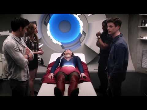 Team Supergirl Goes To Earth 1  The Flash Season 3 Episode 17  Duet