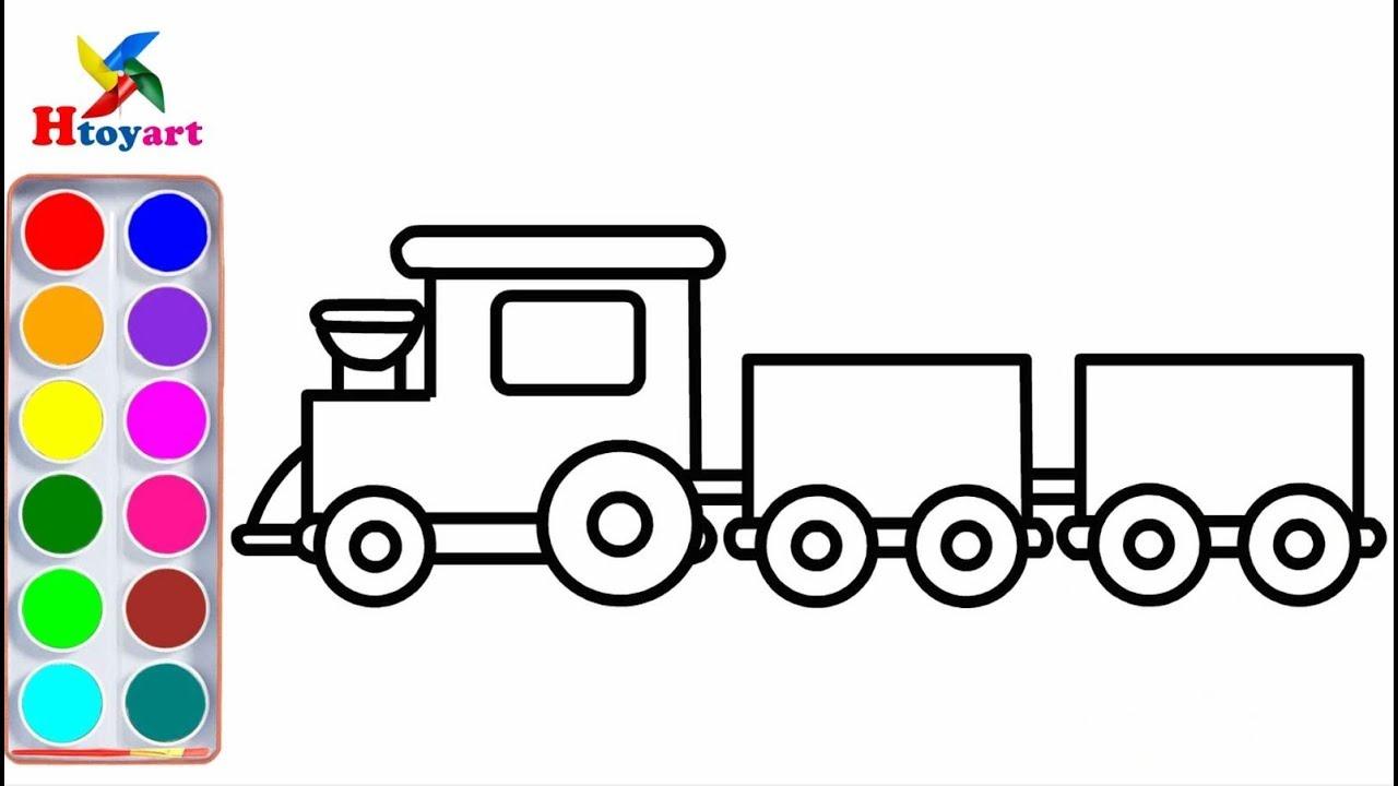 [Htoyart] How to draw simple trains 🚂   Cách vẽ tàu lửa đơn giản