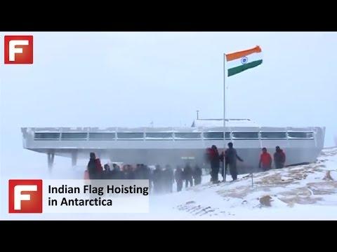 Indian Flag hoisting in Antarctica...