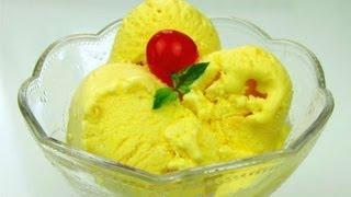 Homemade Coconut Mango Ice Cream Recipe.