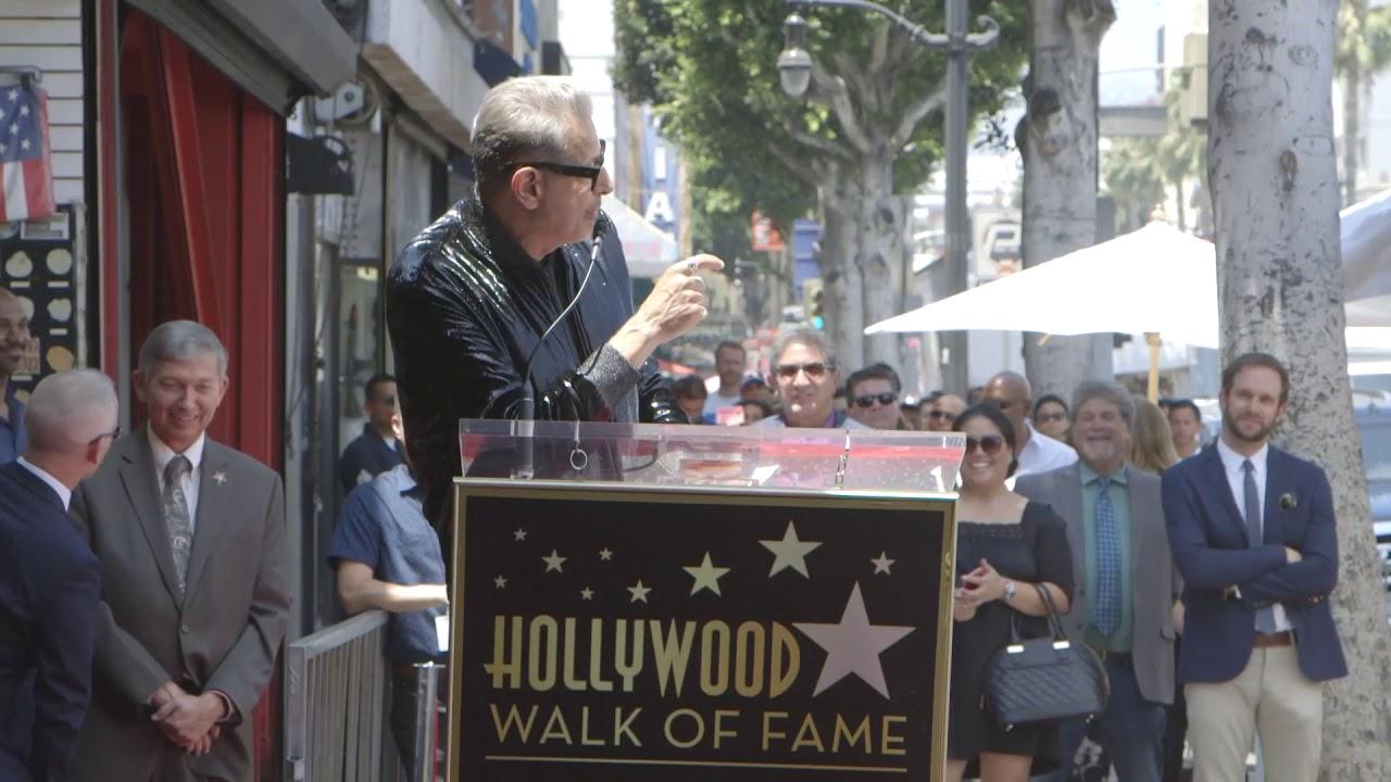 Jeff Goldblum's Hollywood Walk of Fame Speech