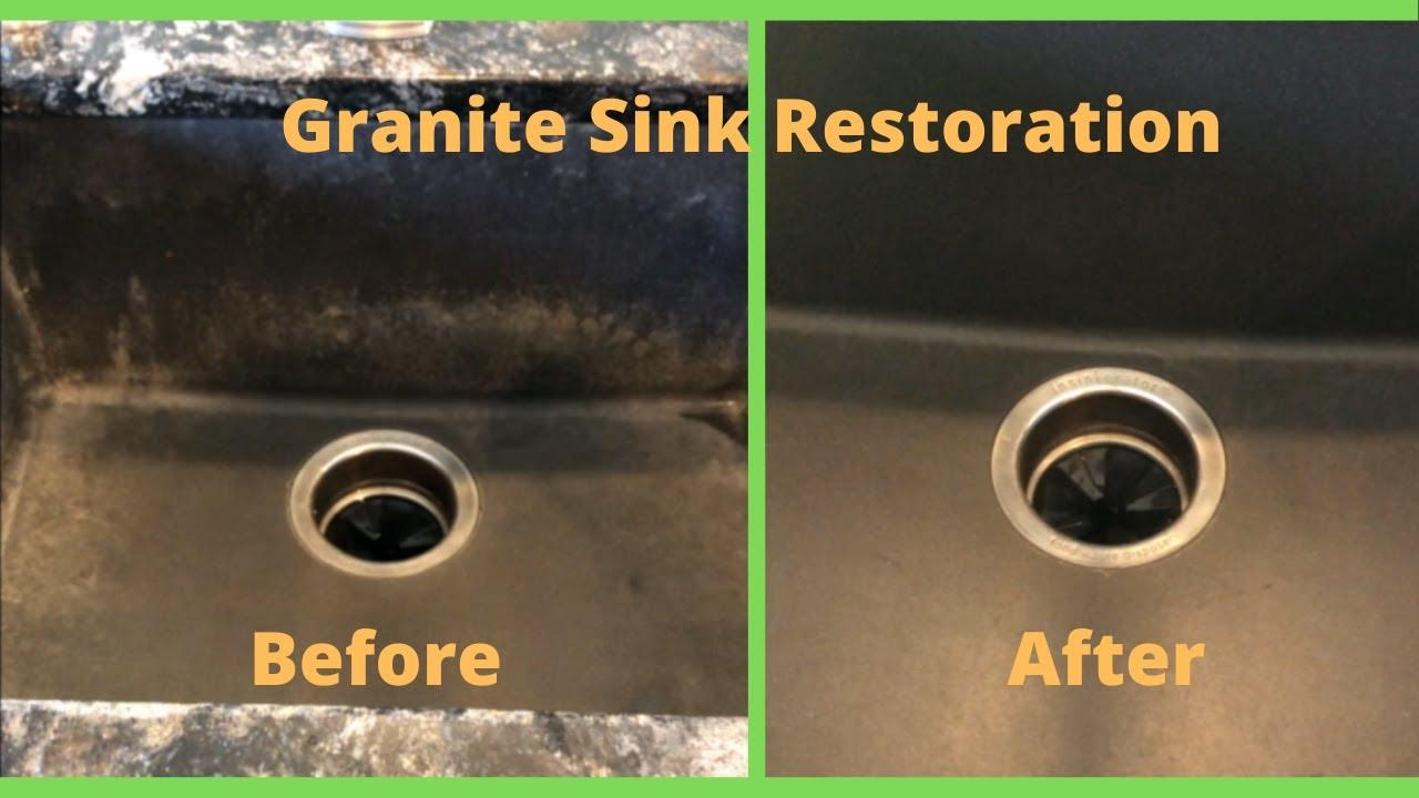 how to restore black granite sinks