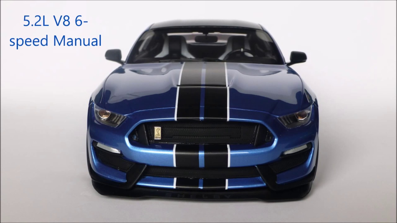 1 18 Shelby Mustang Gt350 R Liquid Blue Youtube