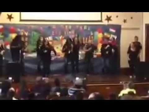 Hispanic Heritage Assembly at Texas Avenue School, Teachers Dance to Don Omar, Oct. 2015