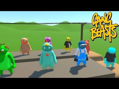 SO MANY PEOPLE! - GANG BEASTS ONLINE