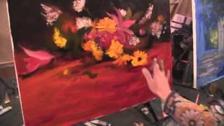 Букет цветов  Видео урок живописи от И Сахарова