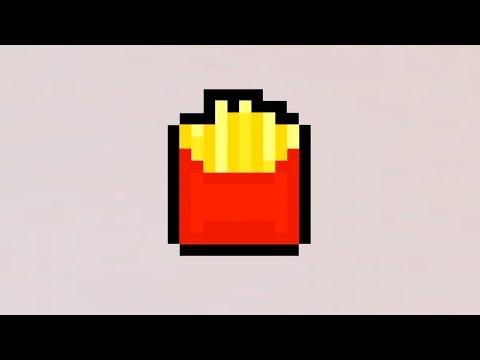 comment dessiner des frites en pixel art youtube. Black Bedroom Furniture Sets. Home Design Ideas