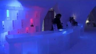 Napapiirille jäähotelli