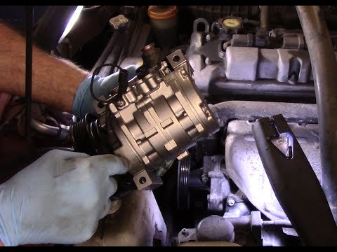 How to replace the AC compressor