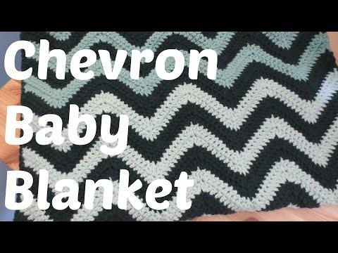 76fc8e184f0be Easy Crochet Chevron Baby Blanket - YouTube