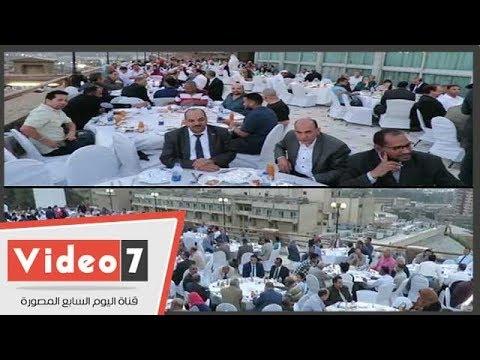 محلب وعمر مروان ولبيب ونجوم السياسة والفن والرياضة بحفل إفطار أبناء الصعيد  - 22:22-2018 / 5 / 22
