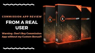 Commission App Review from Real User-⚠️⛔-Don't Buy Commission App without my Bonus 😝😜