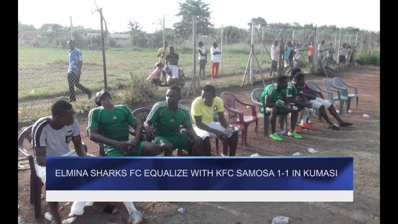 Elmina Sharks equalizes with Samosa in Kumasi