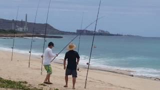 nanakuli beach mothers day fishing