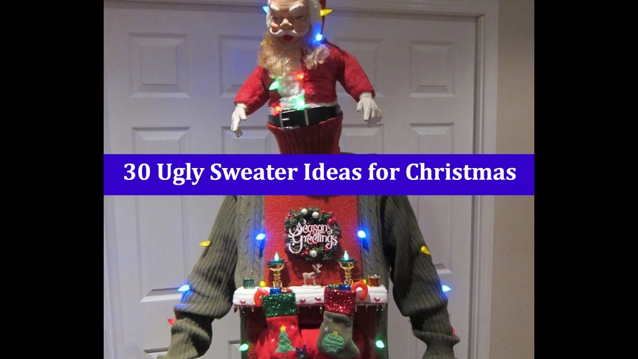 How do you make a ugly christmas sweater