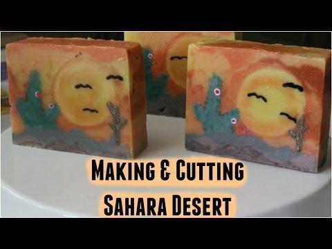 Making & Cutting Sahara Desert | Soap Challenge- Sculpted Layers
