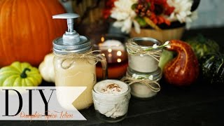 DIY Fall Pumpkin Spice Lotion | ANNEORSHINE Thumbnail