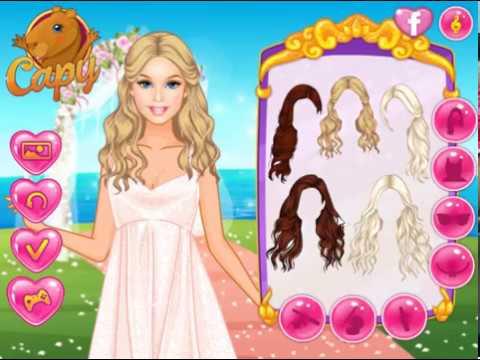 Мультик игра Одевалка: Тропическая свадьба Барби (Barbies Tropical Wedding)