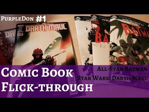 New Comic Book Flick-through #1 (All Star Batman - Darth Maul) ASMR??