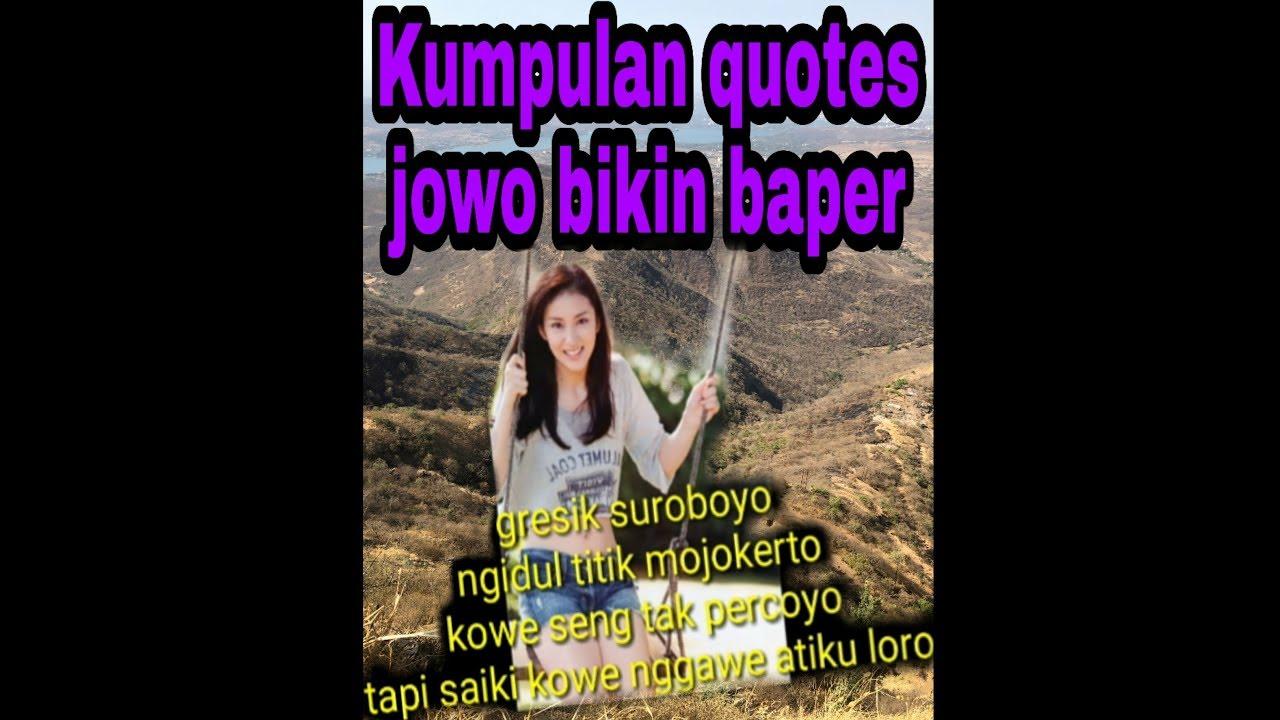 Kumpulan Quotes Jowo Bikin Baper