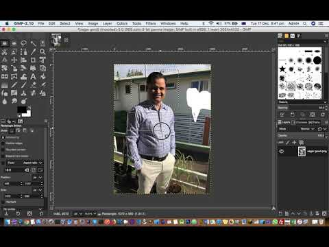 How to cut photo with specific aspect ratio in GIMP thumbnail