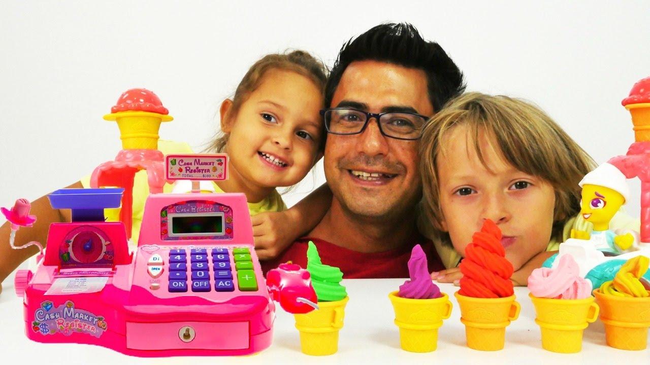 Dondurma dükkanı PlayDoh hamuru - market oyunları