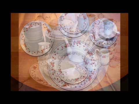 Sheffield Porcelain Fine China Anniversary Dinnerware Serving For 12