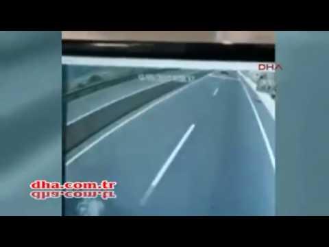 Muğla Marmaris'teki Midibüsün Kaza Anı