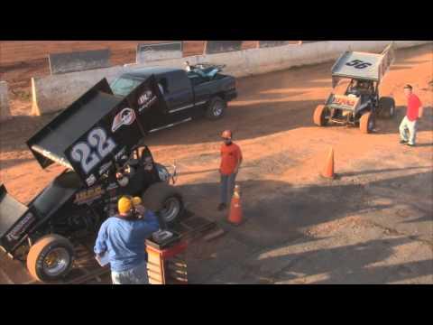 Susquehanna Speedway Park 410 and 358 Sprint Car Highlights 11-10-12