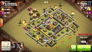 Clash of clans Atacando cn mis primeros dragones