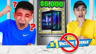 Hiding My Little Brothers $5,000 Fortnite Gaming PC For 24 Hours! He RAGED!