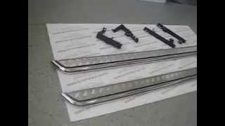 Защита порогов с алюминиевой площадкой Ø51 мм LADA LARGUS.Нержавеющая сталь.(, 2015-01-18T11:07:43.000Z)