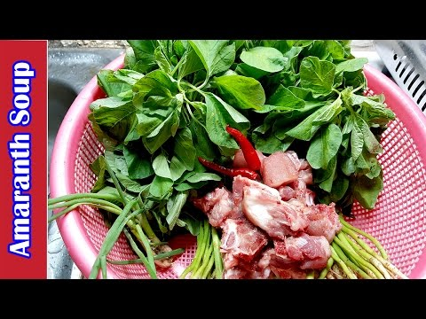asian-food,-khmer-cooking-recipes,-amaranth-soup,-home-food-factory