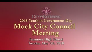 Fairmont High School Youth in Government Day 2018