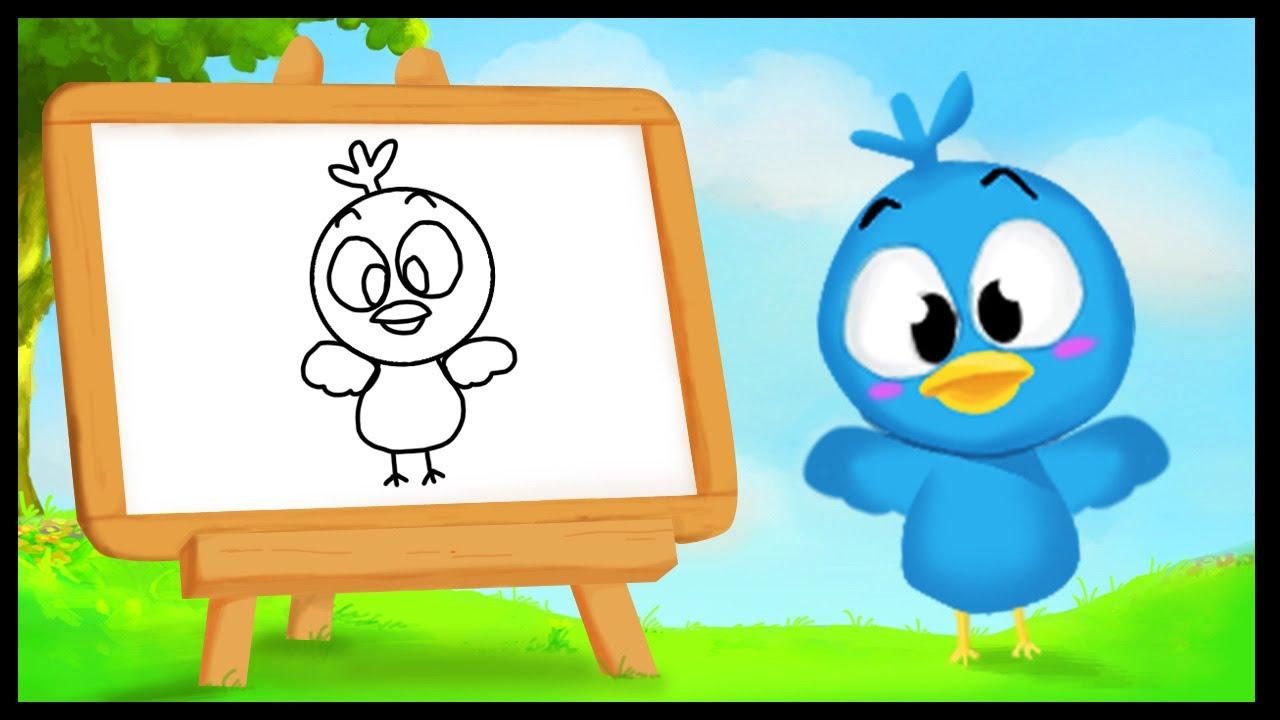 Comment dessiner un oiseau youtube - Modele d oiseaux a dessiner ...