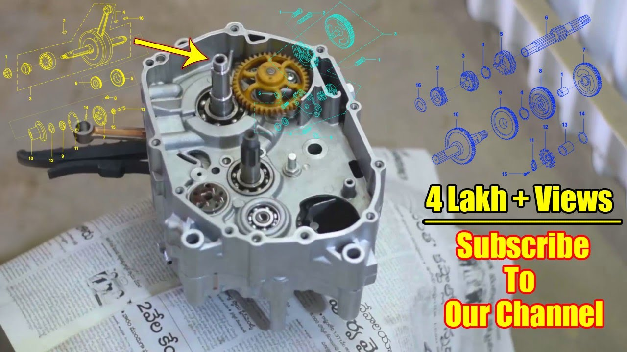 Bajaj Ct 100 Restoration Part 2 Engine Rebuild Spare Parts Catalog Link In The Description Youtube
