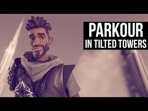 Kid Parkours In Tilted Tower!! (Fortnite Rank #1 Battle Royale)