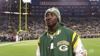 Terence Crawford Visits Green Bay for Monday Night Football