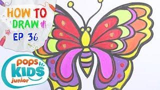 Sắc Màu Tuổi Thơ - Tập 36 - Bé Tập Vẽ Con Bướm | How To Draw A Butterfly For Kids