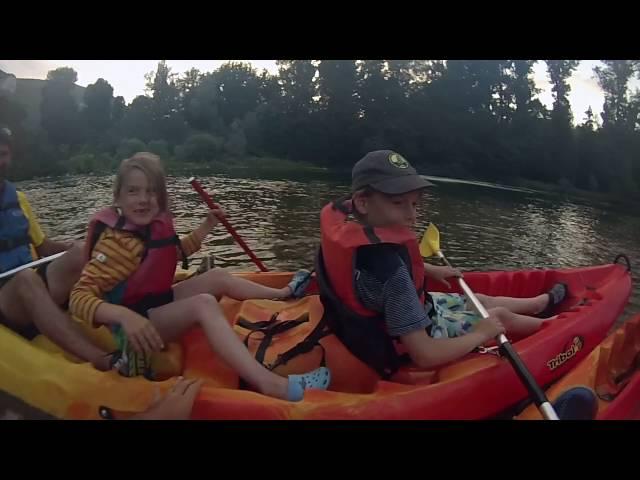 Canoe nocturne canoe Gorges du Tarn Mostuejouls Sud Aveyron Lozère
