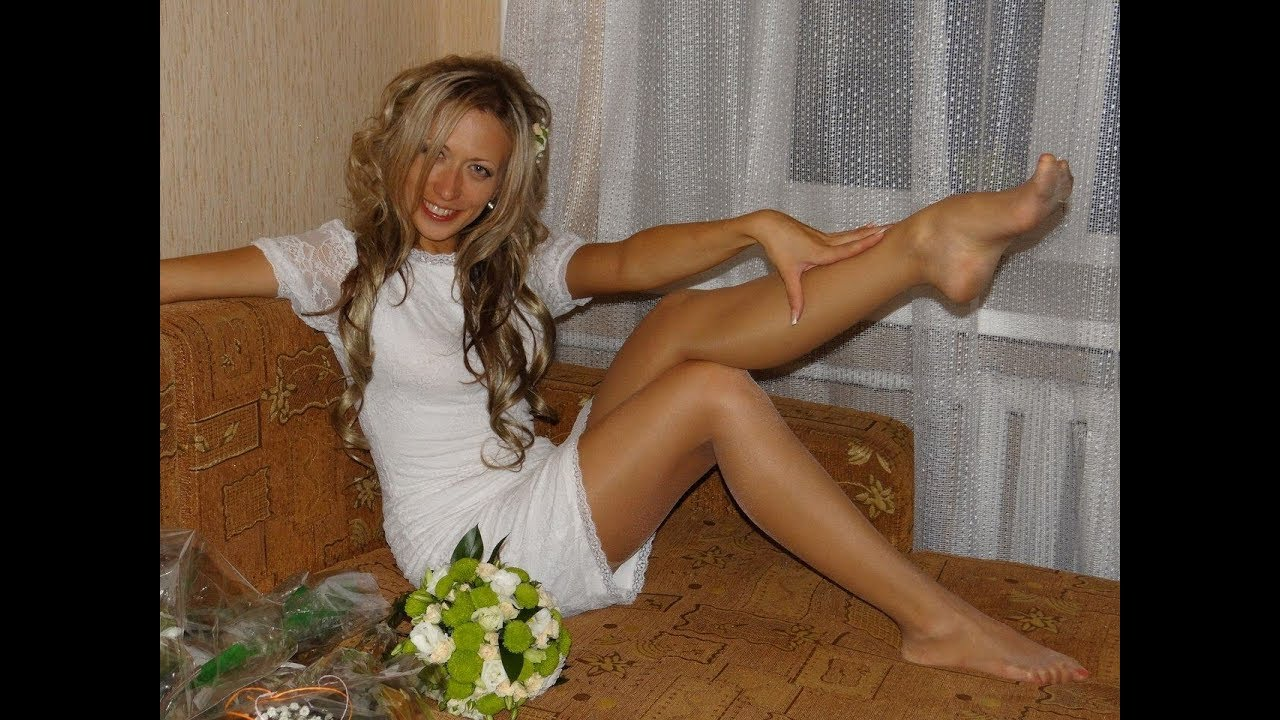 Ladies In Glossy  Shiny Tights, Mini Skirt And No Shoes Download-1963