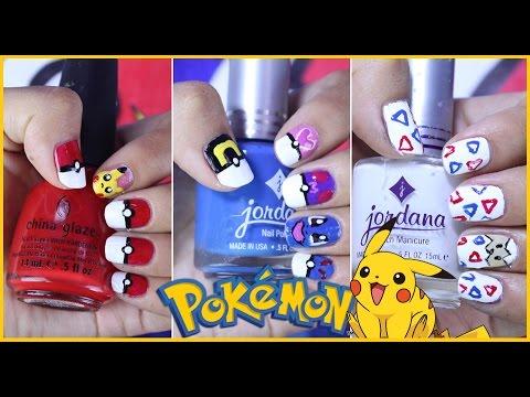 Diseños De Uñas Pokémon Go Amino Akari Beauty