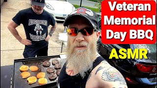 Veteran Memorial Day BBQ - ASMR: Food, Friends & Dogs