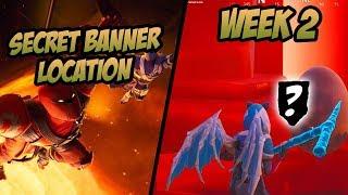 SEASON 8, WEEK 2 | *SECRET* Banner Location! (Free Banner) - Fortnite