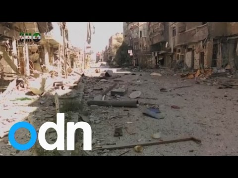 UN calls for aid access to Yarmouk refugee camp left in ruins by IS