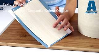 Artesive WD-015 Bleached Tanganika Walnut Opaque - Texture Model of Self-adhesive Film