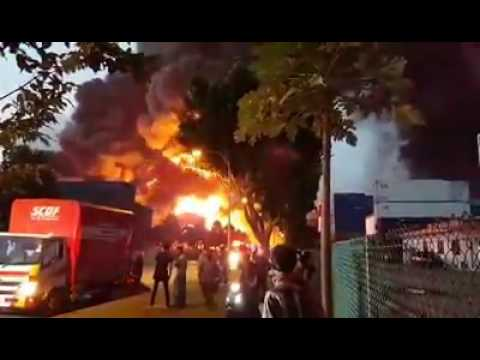Singapore News 2 - Fire at Tuas View Circuit.