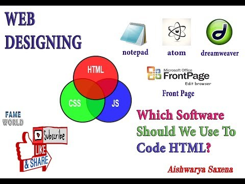 WEB DESIGNING - INTRODUCTION TO SOFTWARES -  NOTEPAD , ATOM ,DREAMWEAVER , MICROSOFT FRONT PAGE