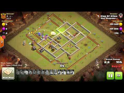 COC 3 star WAR Battle TH11 Max, Watch And learn This Skills If You Can't Hit 3 star