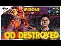 DESTROYING OD Mid // Secret MidOne Ember Spirit Ranked gameplay | DotA 2